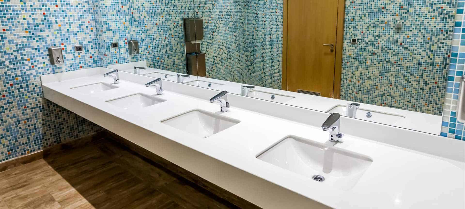 Public toilet touchless faucets