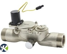 Bi stable solenoid valve for toilet flusher