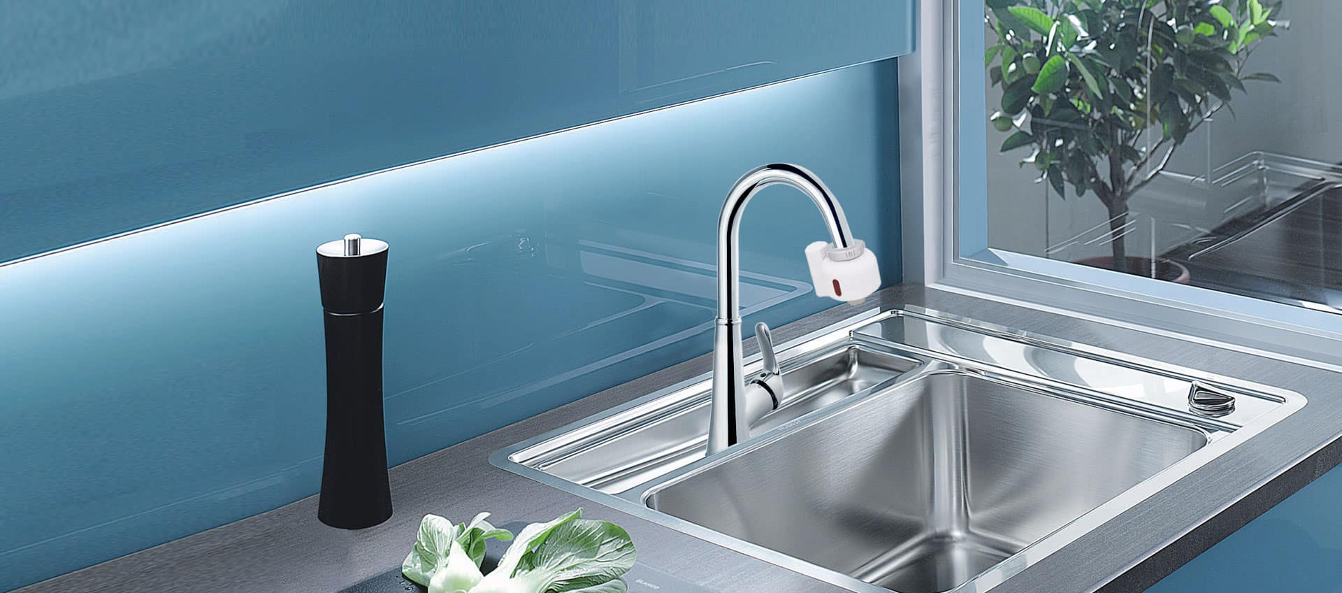 Diy touch free kitchen faucet solution with touchless device add on normal faucet