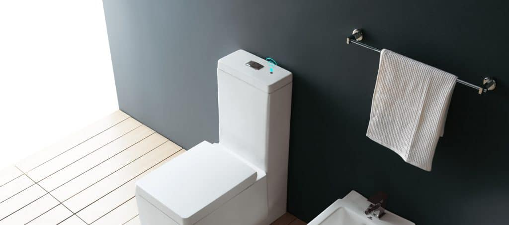 wave touchless micowave sensor toilet flush solution