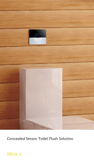 concealed sensor toilet flush solution