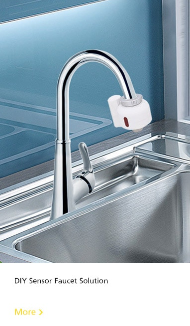diy touchless kitchen faucet