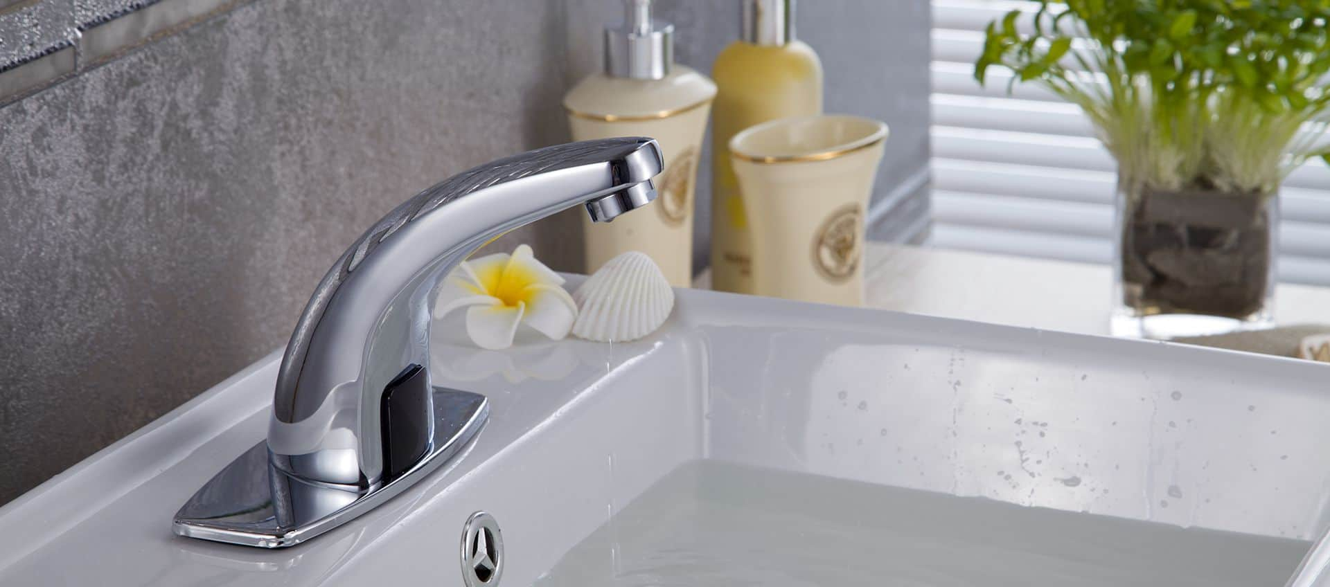 TOUCHLESS BATHROOM FAUCET COLD WATER SOLUTION
