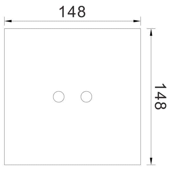 Auto Urinal Flusher Valve KEG-1068AD size