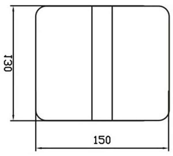 Auto Urinal Flusher Valve KEG-1011AD size
