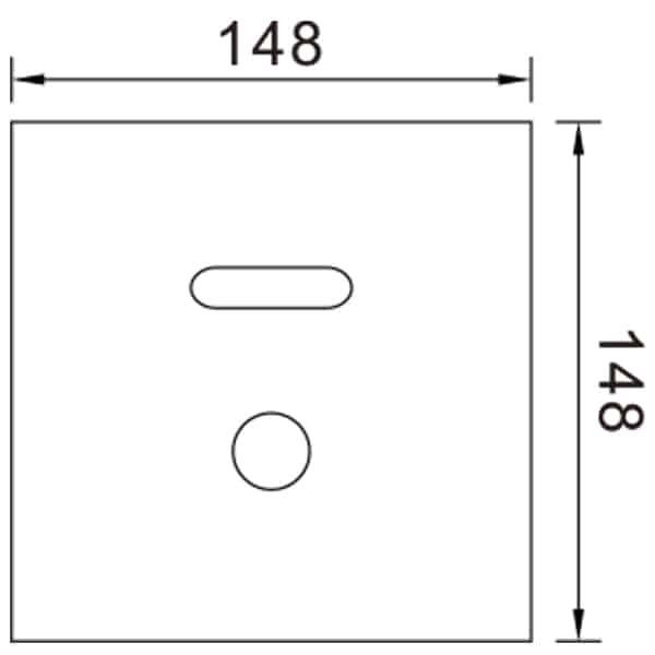 Auto Urinal Flusher Valve KEG-1067AD size