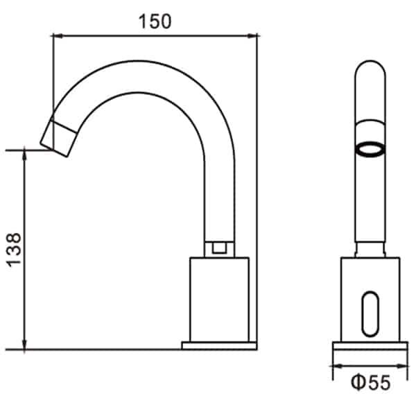 Automatic Gooseneck Sensor Faucet KEG-8114