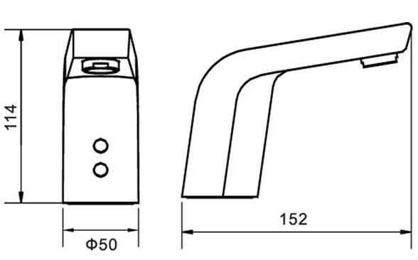 Automatic Sensor Faucet KEG-8155 size