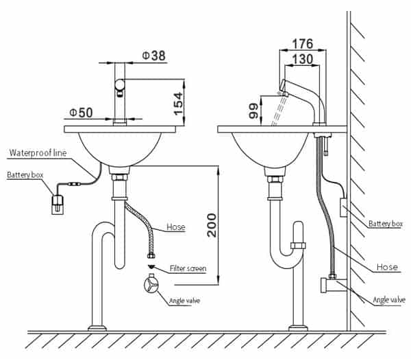 Automatic Sensor Faucet KEG-8909 Installation