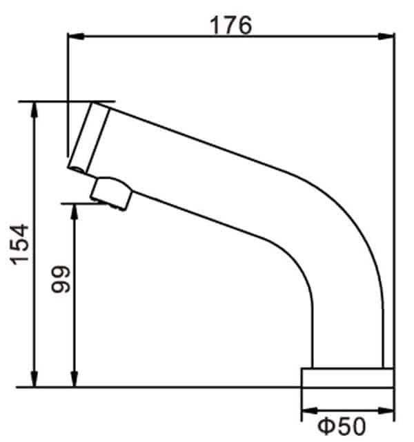 Automatic Sensor Faucet KEG-8909 Size
