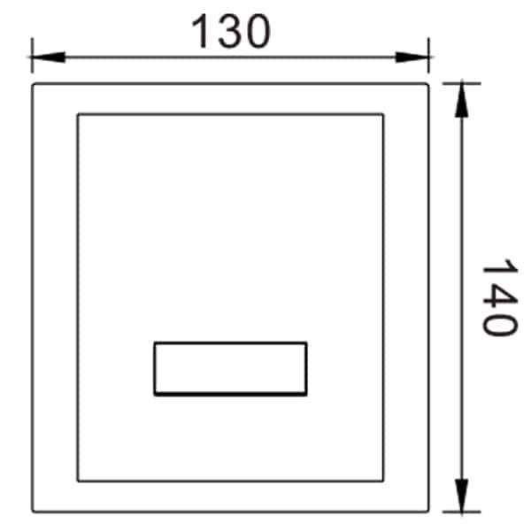 Auto Urinal Flusher Valve KEG-1000AD Size
