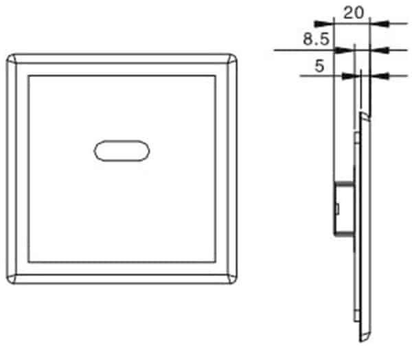 Auto Urinal Flusher Valve KEG-1001AD size