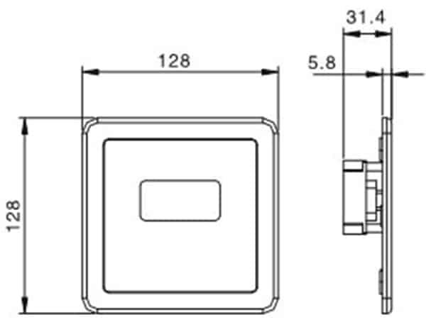 Auto Urinal Flusher Valve KEG-1044AD Size