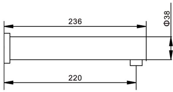 Automatic Wall Mounted Sensor Faucet KEG-8901 Size