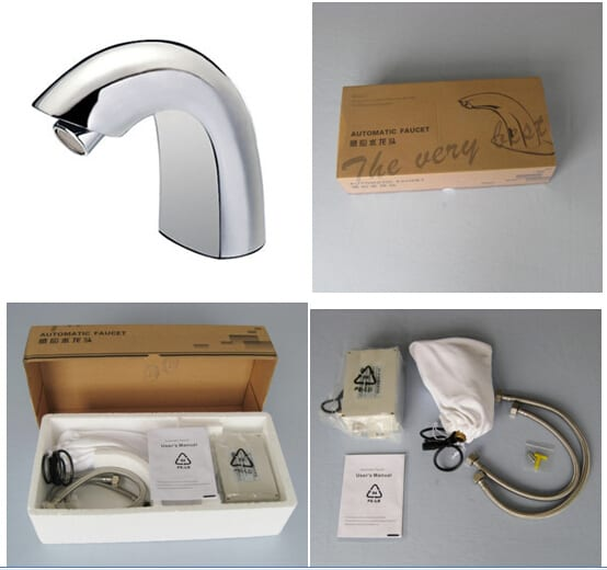 Automatic touchless faucet packaging