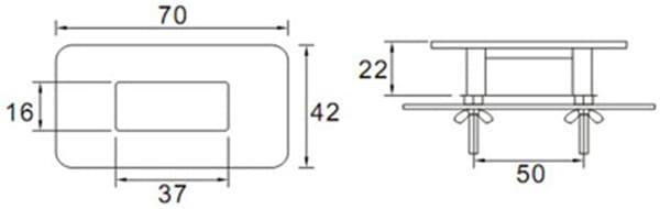 Ceramic Urinal Flusher KEG-110DA size
