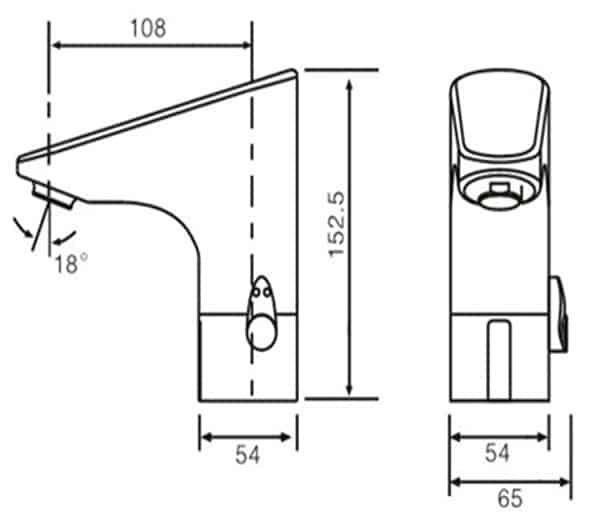 Lavatory Sensor Faucet KEG-8800D/A/AD size