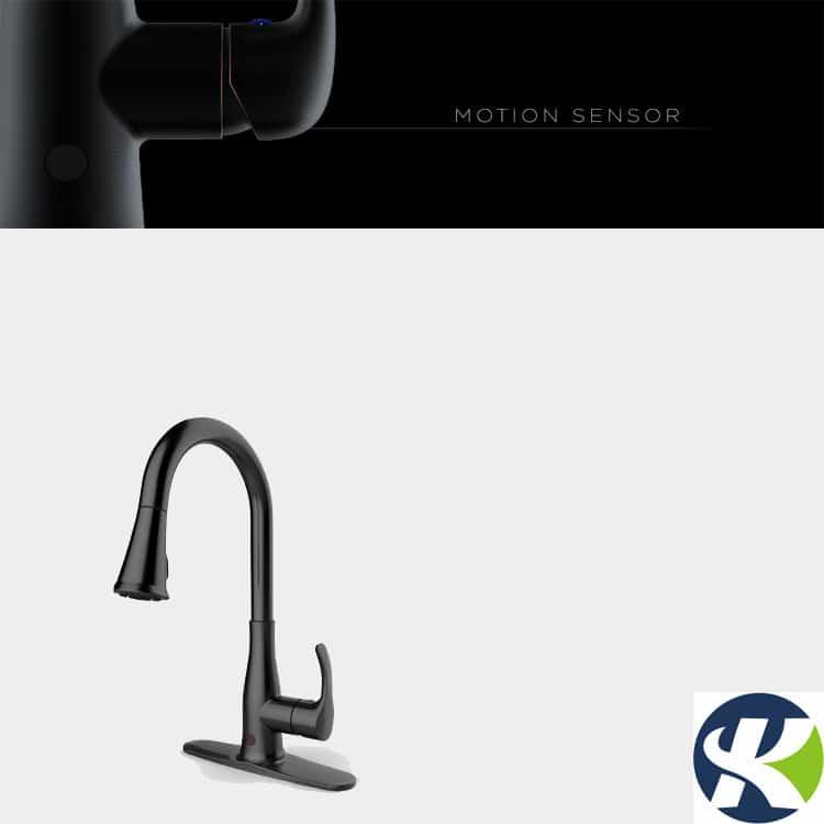 black touch free kitchen faucet