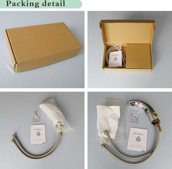 INTEGRATED SENSOR FAUCET HOT AND COLD  KEG-8901D packaging