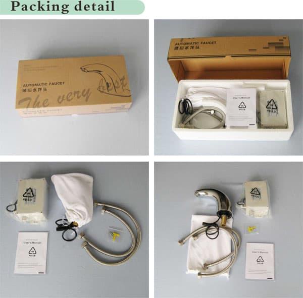 Automatic basin faucet KEG-818 packaging