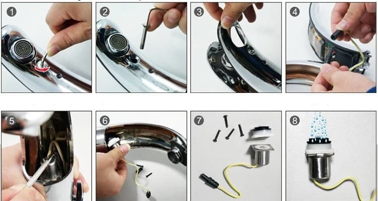 How to clean the solenoid valve of touchless faucet KEG-8901