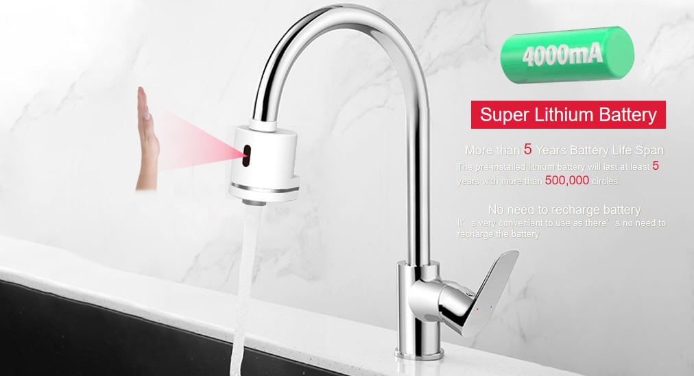 super lithium battery touchless faucet device
