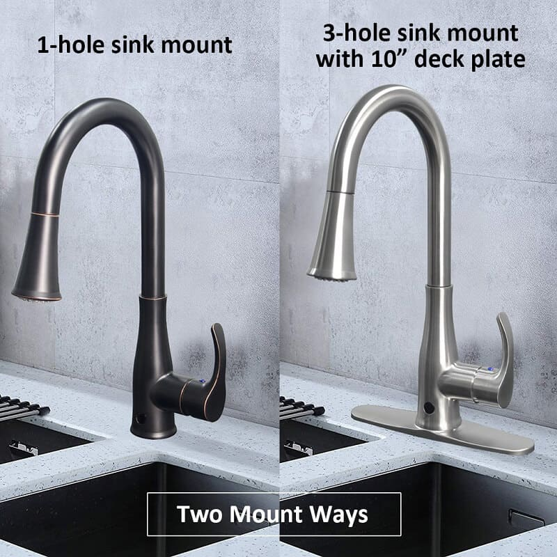 two mount ways for touchless kitchen faucet