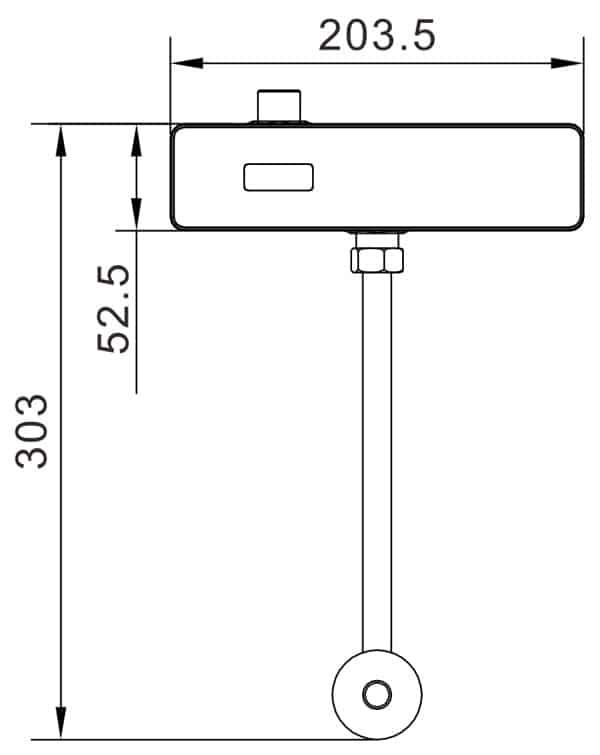 Auto Urinal Flusher Valve KEG-1037 size