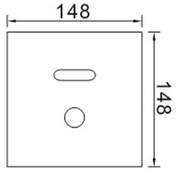 Automatic Toilet Flusher KEG-3166AD size