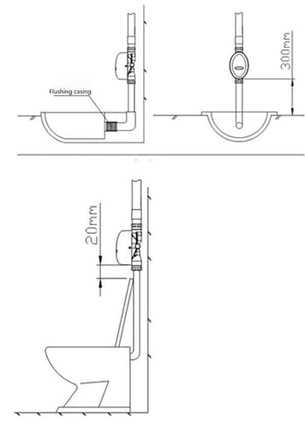 Touchless Toilet Flusher Valve KEG-3600D installation