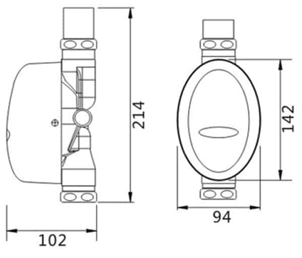 Touchless Toilet Flusher Valve KEG-3600D size