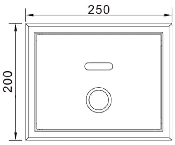 Touchless Toilet Flusher KEG-3701AD size