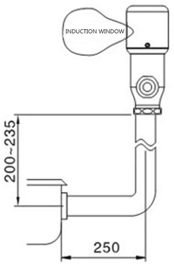 Touchless Toilet Flusher Valve KEG-3300D size