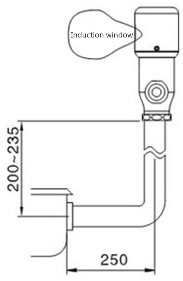 Automatic Toilet Flusher Valve KEG-3500D Size