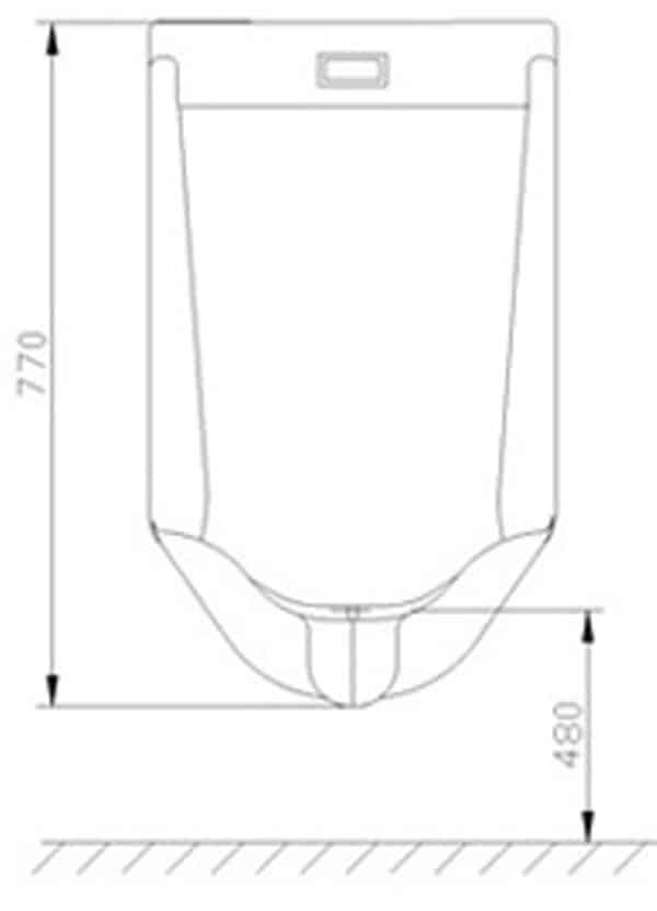 Ceramic Urinal Flusher KEG-110DA  installation