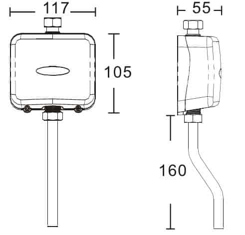 DISCLOSE AUTOMATIC URINAL FLUSHER KEG-1081D size