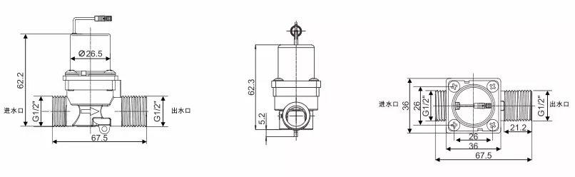 Solenoid Valve KEG-F09B sizes