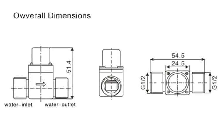 Brass Solenoid Valve KEG-F07B sizes
