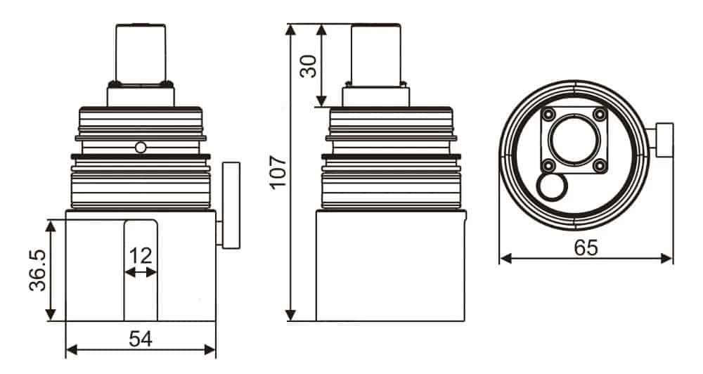 KEG-8804 Faucet Solenoid Valve dimension