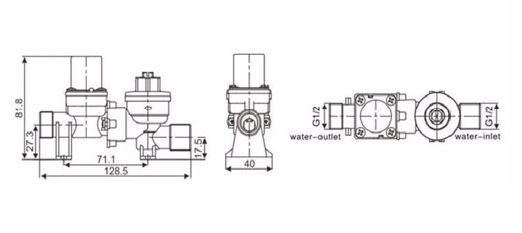 6V Urinal Flusher Solenoid Valve KEG-F18A