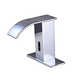Gangang Automatic Touchless Sensor Waterfall Bathroom Sink Faucet