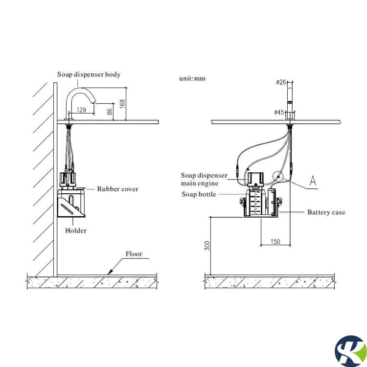 Automatic Soap Dispenser KEG-GB-6630D installation guide
