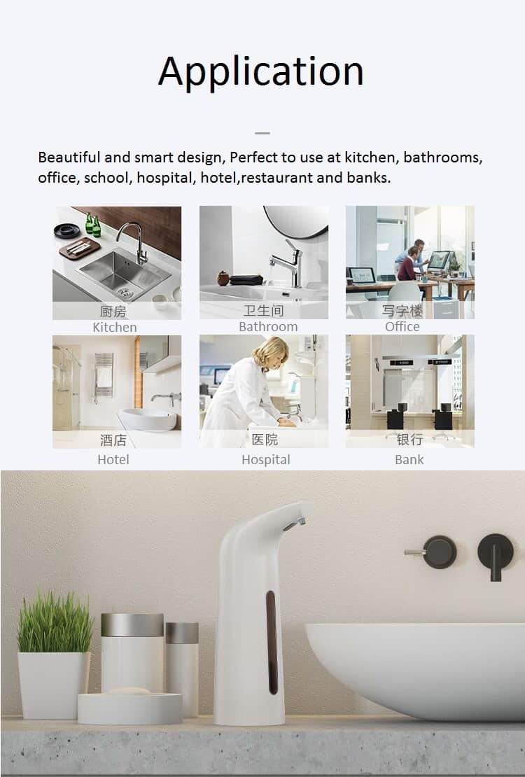 Application Foaming Automatic Soap Dispenser KEG-1805B-P