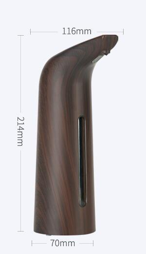 size dark wood grain automatic soap dispenser KEG-805B