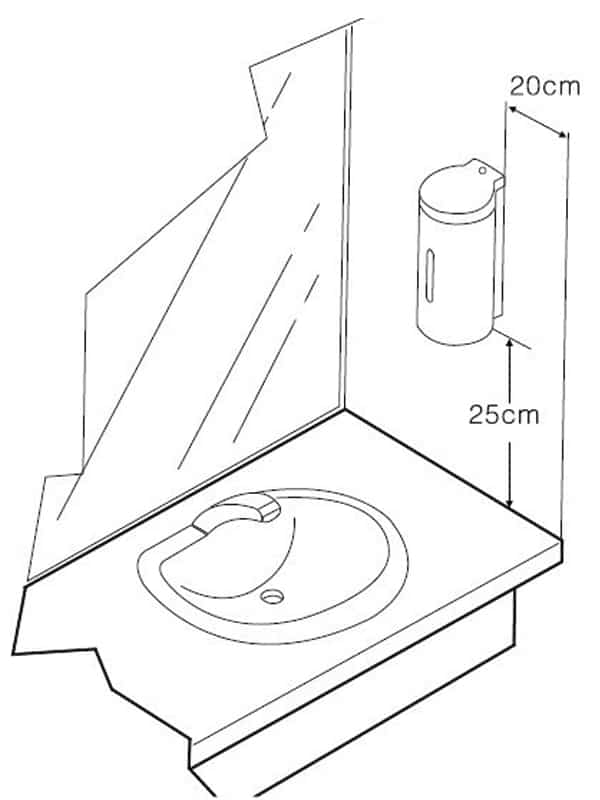 Wall mounted automatic soap dispenser KEG-610 installation guide