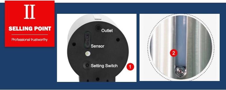 Selling point 2 stainless steel wall mounted sensor dispenser