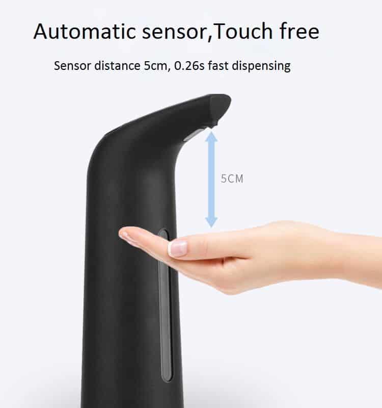 sensor distace black automatic soap dispenser KEG-805B