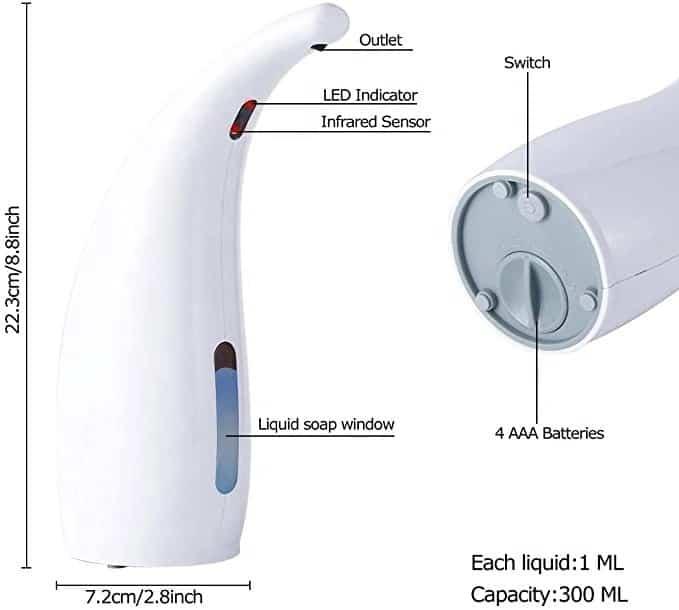 structure automatic soap dispenser keg-805a