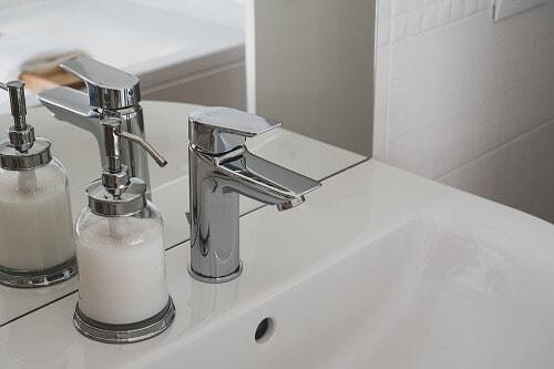 faucet with soap dispenser