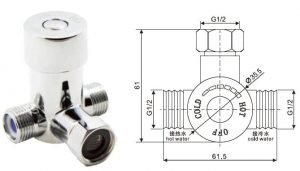 KEGE MIXING VALVE FOR TOUCHLESS FAUCET
